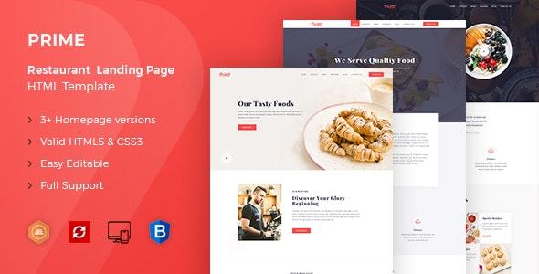 Prime - Restaurant HTML Template - Food Retail