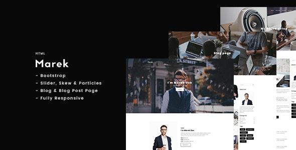 Marek - Personal Portfolio HTML - Portfolio Creative