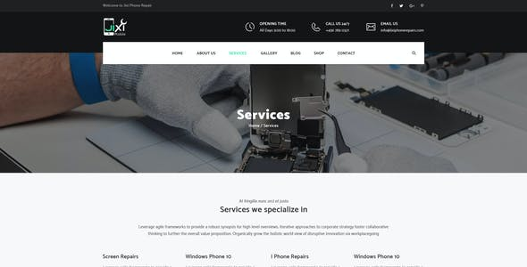 Jixi : Phone Repair PSD Template