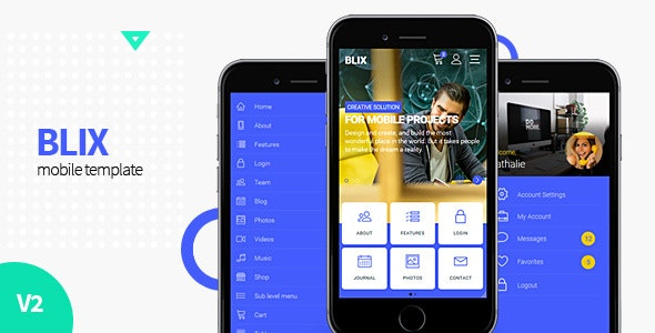 Blix - Mobile HTML Template - Mobile Site Templates