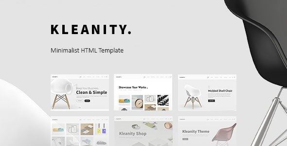 Kleanity - Minimalist HTML Template / Creative Portfolio - Creative Site Templates