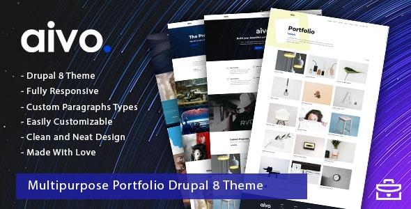 Aivo - Multipurpose Portfolio Drupal 8 Theme - Portfolio Creative