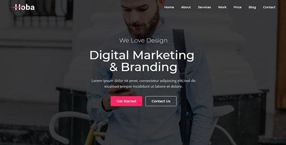 Hoba - Creative One Page Parallax - Creative Site Templates