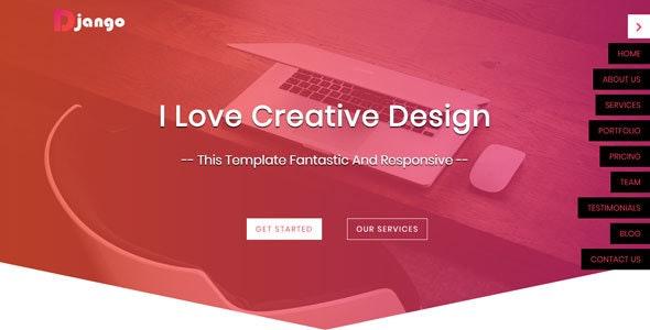 Django - One Page HTML5 Website Template - Creative Site Templates