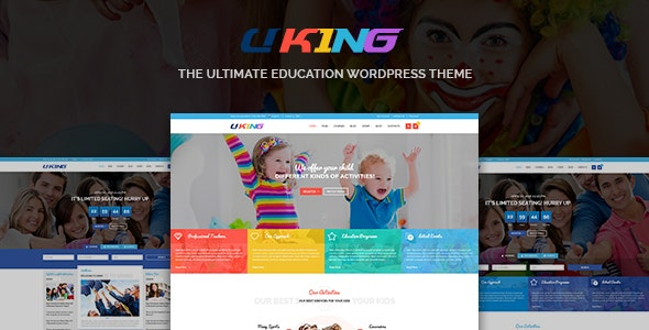 Uking - Responsive WordPress Education Theme - Creative WordPress