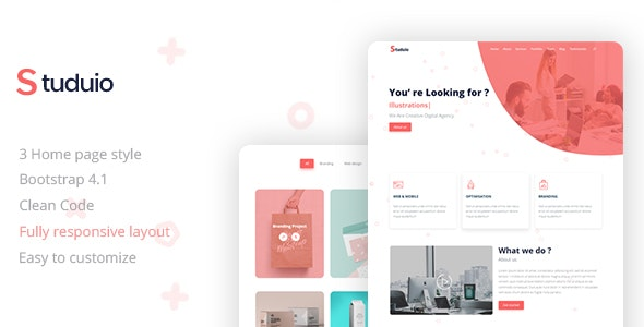 Studuio Creative Landing Page - Corporate Site Templates
