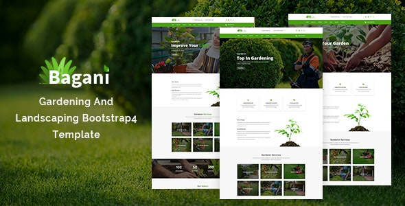 Bagani – Gardening and Landscaping Bootstrap4 Template - Business Corporate