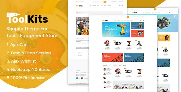 Toolkits -  Tools Store Shopify Theme