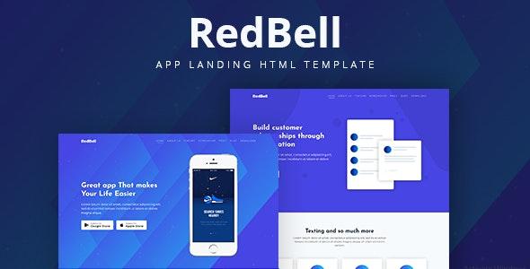 RedBell - Bootstrap 4 App Landing Template - Technology Site Templates