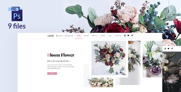 Bloom - Flower Store PSD Template - Shopping Retail