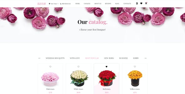 Bloom - Flower Store PSD Template