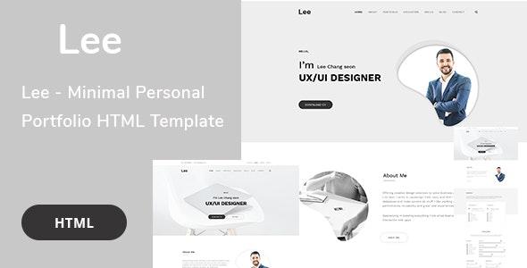 Lee - Minimal Personal Portfolio HTML Template - Portfolio Creative