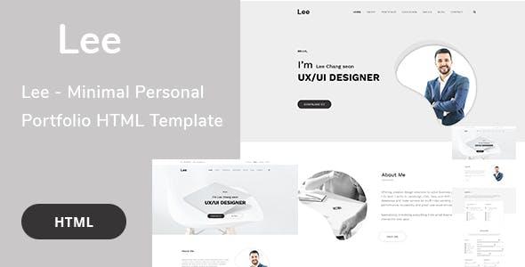 Lee - Minimal Personal Portfolio HTML Template