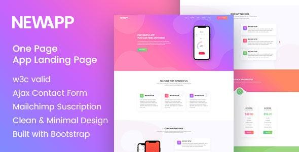 NewApp - HTML5 Landing Page - Software Technology