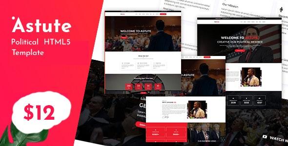 Astute - Responsive Political HTML5 Template - Political Nonprofit