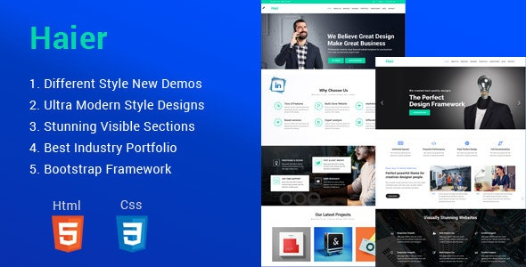 Haier | The Multipurpose HTML Template - Business Corporate