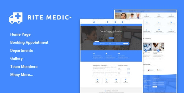 Rite Medic - Medical and Health HTML Template - Health & Beauty Retail