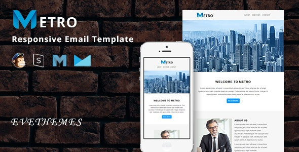 Metro - Responsive Email Template - Newsletters Email Templates