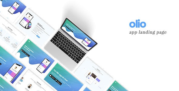 Olio | App Landing Page Template - Apps Technology