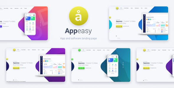 Appeasy - App and Software Landing Page HTML Template