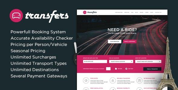 Transfers Transport And Car Hire WordPress Theme