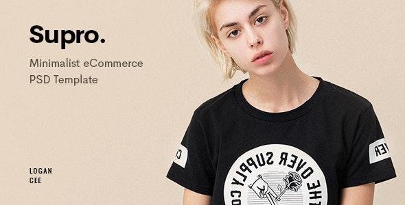Supro   Minimalist eCommerce PSD Template - Retail Photoshop