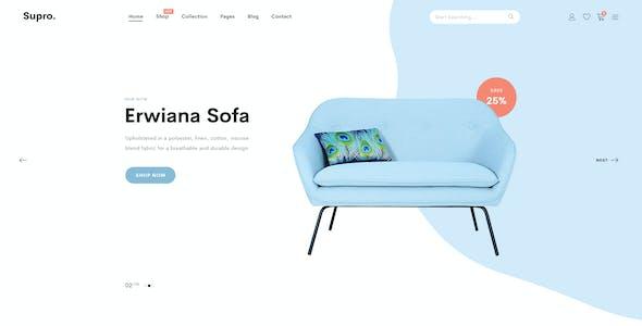 Supro | Minimalist eCommerce PSD Template
