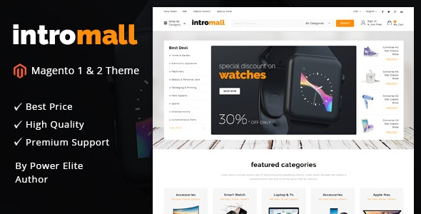 Intromall - Responsive Magento 1 & 2 Theme by TemplateMela | ThemeForest