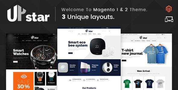 UpStar - Responsive Magento 1 & 2 Theme - Shopping Magento
