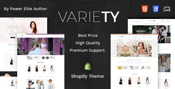 Variety - Sectioned Multipurpose Shopify Theme - Fashion Shopify