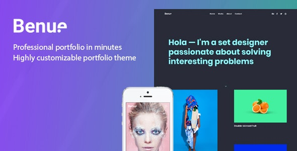 Benue - Creative Portfolio WordPress Theme - Portfolio Creative