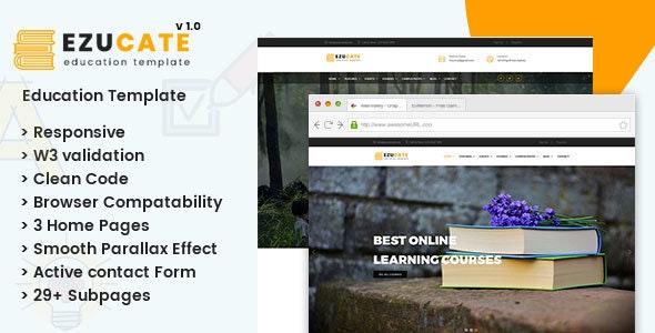 Ezucate - Education HTML5 Responsive Template - Corporate Site Templates