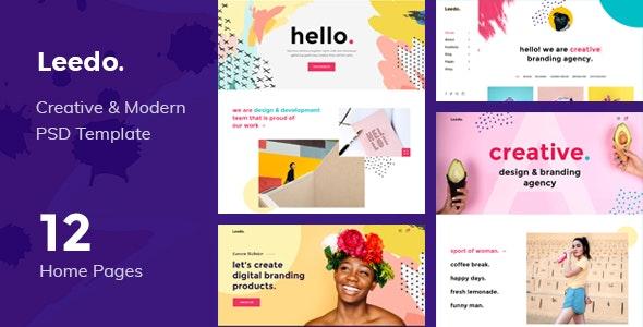 Leedo - Modern, Colorful & Creative Portfolio PSD Template - Portfolio Creative