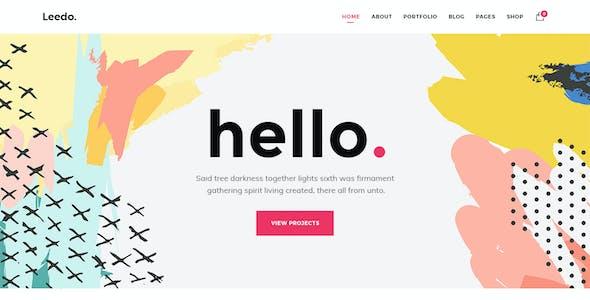 Leedo - Modern, Colorful & Creative Portfolio PSD Template