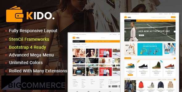 Kido - Creative Multipurpose  Stencil BigCommerce Bootstrap 4 Theme | Google AMP Ready - BigCommerce eCommerce