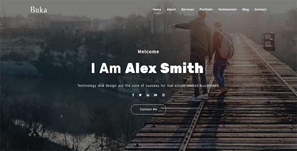 Buka - One Page Portfolio - Personal Site Templates