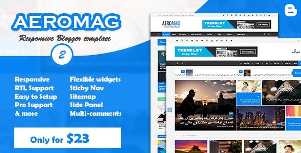 AeroMag - News & Magazine Responsive Blogger Template - Blogger Blogging