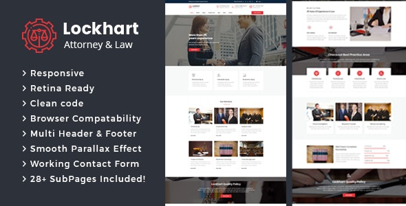 Lockhart - Lawyers Attorneys and Law Firm HTML Template - Business Corporate
