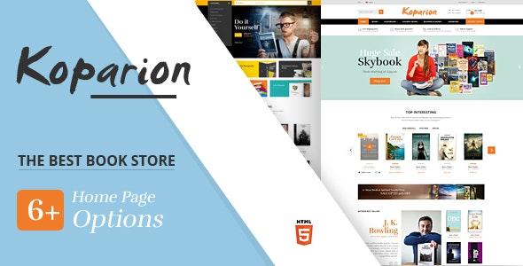 Koparion – Book Shop HTML5 Template - Shopping Retail