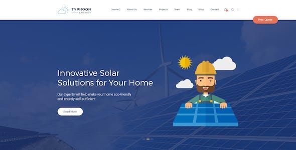 Typhoon - Solar Energy PSD Template