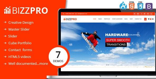 Bizzpro - Multipages Drupal 8.8 Theme - Business Corporate