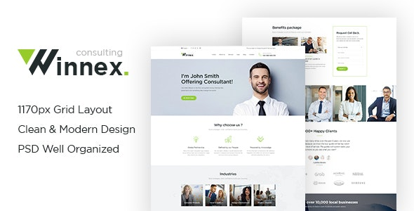 Winnex - Consulting PSD Templates - Business Corporate