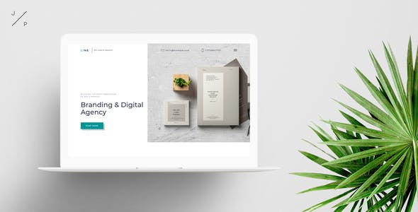 Download LINE - Branding Digital Agency Muse Template