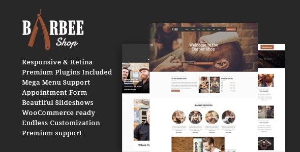 Barbee | Responsive Barber Shop & Hair Salon WordPress Theme - Health & Beauty Retail