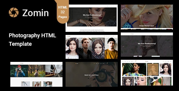 Zomin - Photography Template for Photographers - Photography Creative
