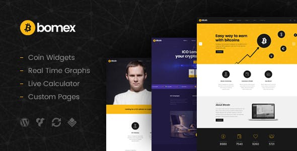 Bomex - Cryptocurrency & Bitcoin WordPress Theme
