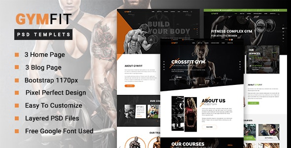GYM FIT - Gym & Fitness PSD Template - Health & Beauty Retail