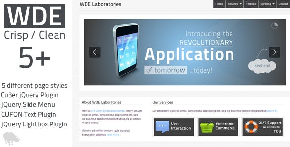 WDE Crisp / Clean 5+ HTML Design
