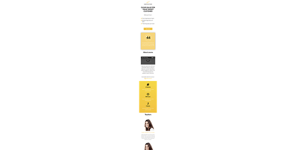Buy Course - Responsive Unbounce Landing Page Template