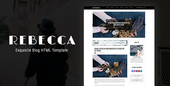 Rebecca's Blog - Exquisite Blog HTML Template - Personal Site Templates